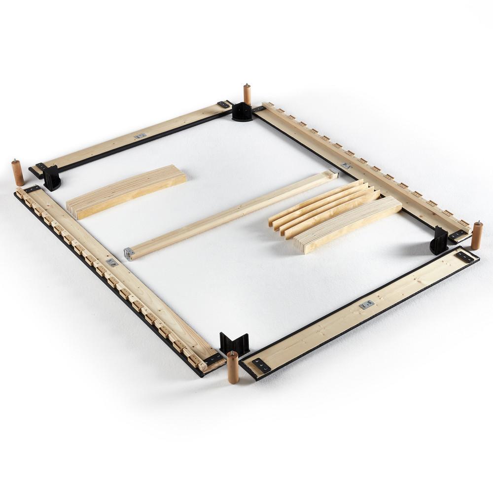 sommier d montable merinos self kit taupe. Black Bedroom Furniture Sets. Home Design Ideas