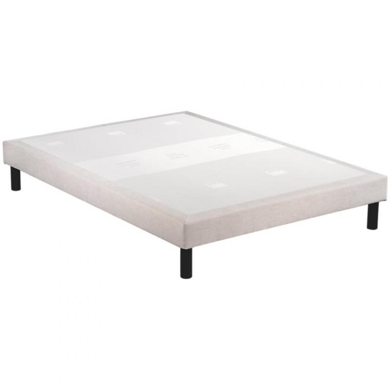 Sommier tapissier Epeda Confort Moelleux 5 Zones Déco Chenillé Lin