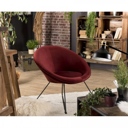 Fauteuil Cocooning AGATHA Rouge